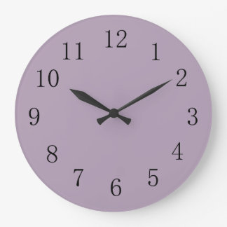Cor sólida roxa Pastel Relógio Para Parede