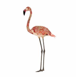 Cora a escultura floral do flamingo foto escultura
