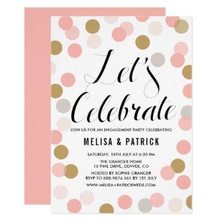 Cora & a festa de noivado das bolinhas dos convite 12.7 x 17.78cm