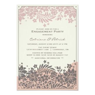 Cora o convite floral da festa de noivado do