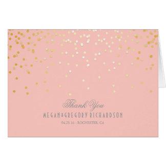 Cora o obrigado cor-de-rosa do casamento dos cartão de nota