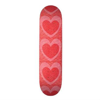 Coração 1 shape de skate 21,6cm