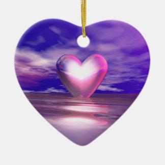 Coração à tona ornamento