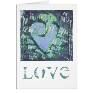 coração abstrato cartões