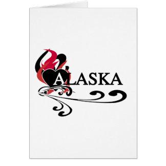 Coração Alaska do fogo Cartão Comemorativo