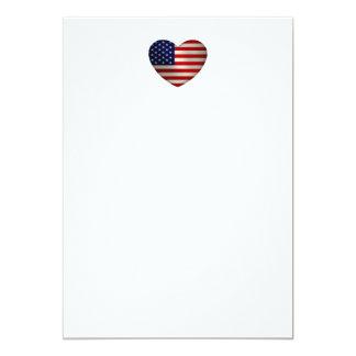 Coração América Convite 12.7 X 17.78cm