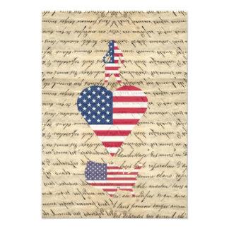 Coração América de VintageI Convite