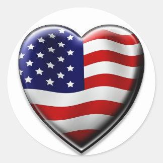 Coração americano adesivo