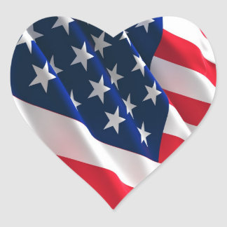 coração americano adesivo coração