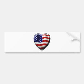 Coração americano adesivo para carro
