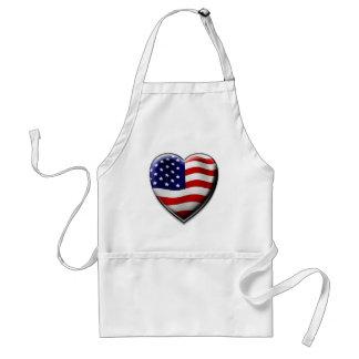 Coração americano avental