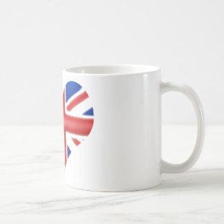 Coração americano britânico caneca