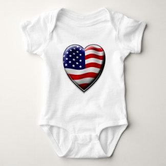 Coração americano camiseta