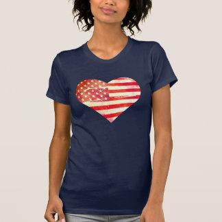 Coração americano camisetas