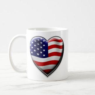 Coração americano caneca