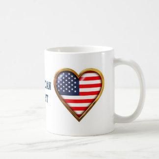 Coração americano caneca de café
