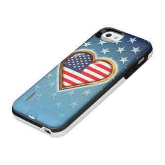 Coração americano capa carregador para iPhone SE/5/5s