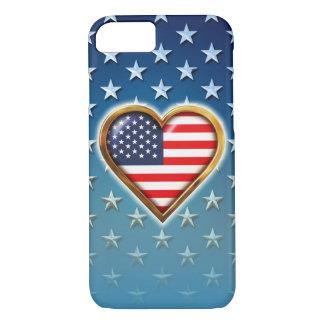 Coração americano capa iPhone 7