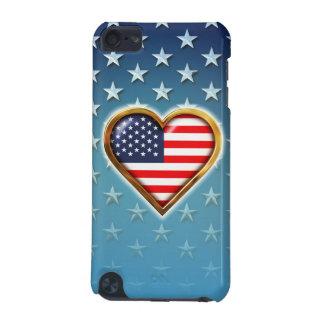 Coração americano capa para iPod touch 5G