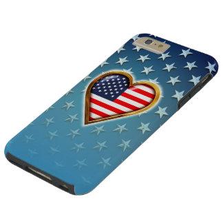Coração americano capa tough para iPhone 6 plus