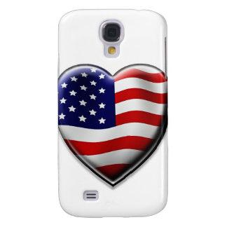 Coração americano capas personalizadas samsung galaxy s4
