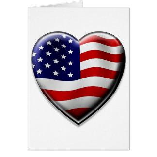 Coração americano cartão comemorativo