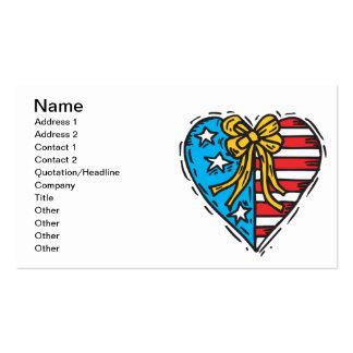 Coração americano cartão de visita