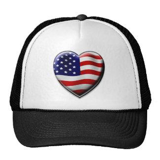 Coração americano boné