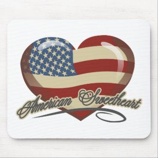 Coração americano do querido mouse pads