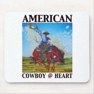 Coração americano do vaqueiro @ por belas artes de mousepad