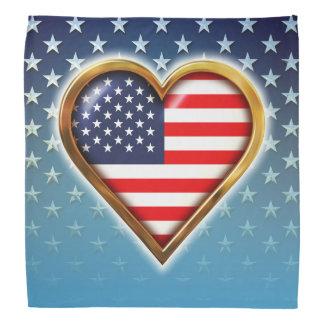 Coração americano faixas para cabeça