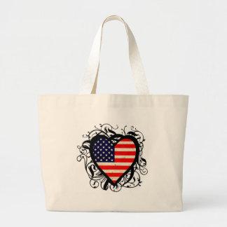 Coração americano bolsa