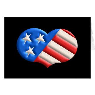 Coração americano (nenhum verso para dentro) cartão comemorativo