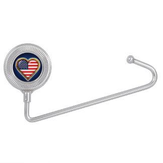 Coração americano suportes para bolsas