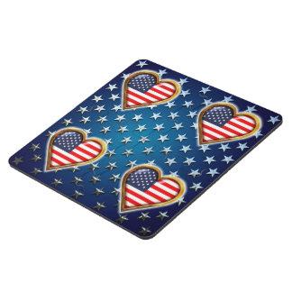 Coração americano porta copo de quebra-cabeça