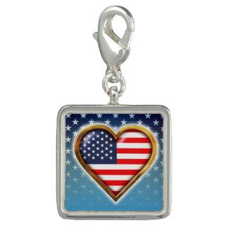 Coração americano pingente