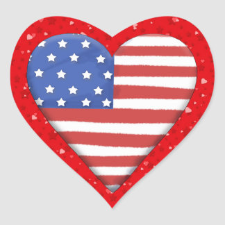 Coração americano - SRF Adesivo Coração