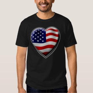 Coração americano t-shirt