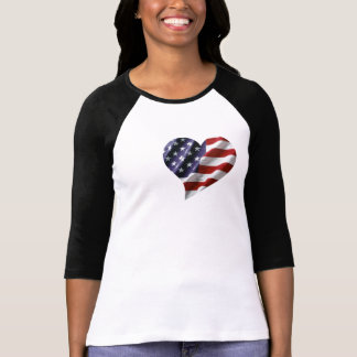 Coração americano t-shirts