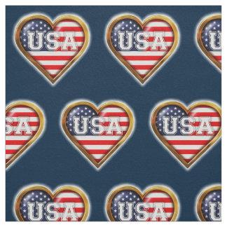 Coração americano tecido