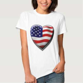 Coração americano tshirts
