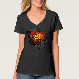 Coração & asa camisetas