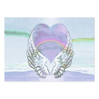 Coração, asas do anjo & oceano