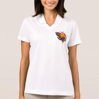 Coração & asas t-shirt polo