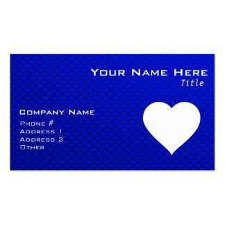 Coração azul & branco cartão de visita