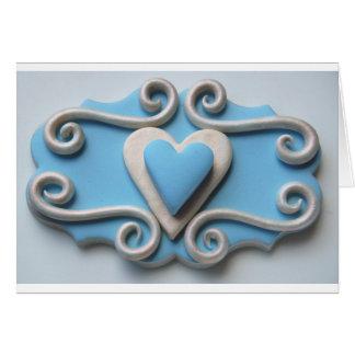 Coração azul cartões