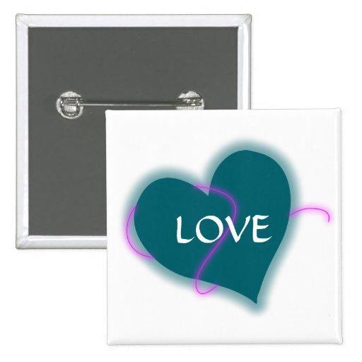 Coração azul com texto customizeable do amor boton