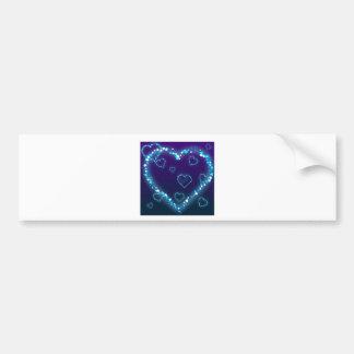 Coração azul da faísca adesivo para carro