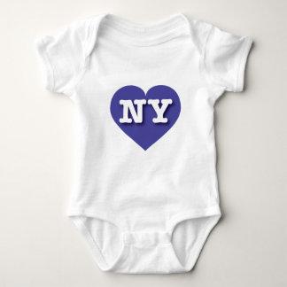 Coração azul de New York - amor grande Tshirts