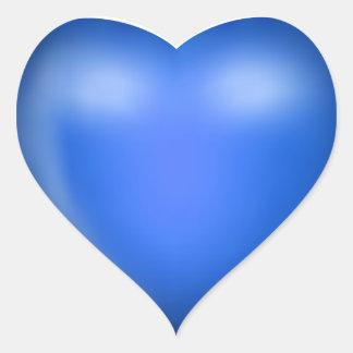 coração azul do amor 3D Adesivo Coração